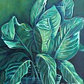 Leaves In A Vase by Ellen Howell