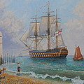 Leaving Portsmouth Harbour by Elaine Jones