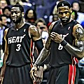 Lebron James And Dwyane Wade by Florian Rodarte
