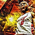 Lebron James Art Poster by Florian Rodarte
