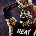 Lebron James Mvp by Maria Arango