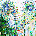 Led Zeppelin - Watercolor Portrait.2 by Fabrizio Cassetta
