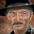 Lee Van Cleef As Angel Eyes In The Good The Bad And The Ugly Version II by Jim Fitzpatrick