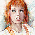 Leeloo Portrait MULTIPASS The Fifth Element by Olga Shvartsur