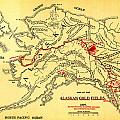 Lees Map Of The Alaskan Gold Fields 1897 by MotionAge Designs