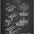 Lego Toy Building Brick Patent - Dark by Aged Pixel