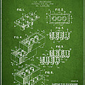 Lego Toy Building Brick Patent - Green by Aged Pixel