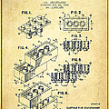 Lego Toy Building Brick Patent - Vintage by Aged Pixel