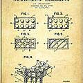 Lego Toy Building Element Patent - Vintage by Aged Pixel