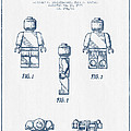 Lego Toy Figure Patent - Blue Ink by Aged Pixel