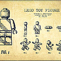Lego Toy Figure Patent Drawing From 1979 - Vintage by Aged Pixel