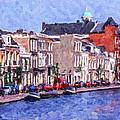 Leiden Canal by Liz Leyden