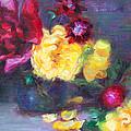 Lemon And Magenta - Flowers And Radish by Talya Johnson