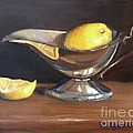 Lemon In Saucer by Viktoria K Majestic