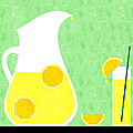 Lemonade And Glass Green by Andee Design