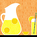 Lemonade And Glass Orange by Andee Design