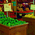 Lemons And Limes Farmers Market Food Stalls Market Vendors Vegetable Food Art Carole Spandau by Carole Spandau
