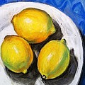 Lemons On Blue by Sherry Ackerson