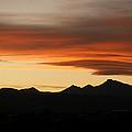 Lenticular Clouds Over Longs Peak 2 by Marilyn Hunt