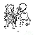 Leo Constellation Zodiac Sign 1482 by Science Source