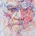 Leo Tolstoy/ Colored Pens Portrait by Fabrizio Cassetta