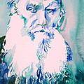 Leo Tolstoy Watercolor Portrait.2 by Fabrizio Cassetta