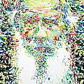 Leo Tolstoy Watercolor Portrait.1 by Fabrizio Cassetta