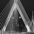 Leonard P. Zakim Bunker Hill Memorial Bridge Bw by Susan Candelario