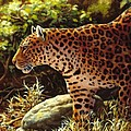 Leopard Painting - On The Prowl by Crista Forest