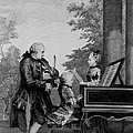 Leopold Mozart And His Two Children by Louis Carrogis Carmontelle