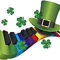 Leprechaun Hat With Rainbow Color Piano Keyboard by Jit Lim