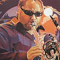 Leroi Moore Purple And Orange by Joshua Morton