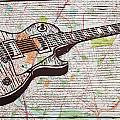 Les Paul On Austin Map by William Cauthern