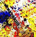 Les Paul Retro Abstract by Brian Raggatt