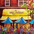 Lester's Deli Montreal Smoked Meat Paris Style French Cafe Paintings Carole Spandau by Carole Spandau