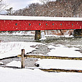 Connecticut Covered Bridge Snow Scene By Thomasschoeller.photography  by Expressive Landscapes Fine Art Photography by Thom