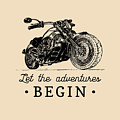 Let The Adventures Begin Inspirational by Vlada Young