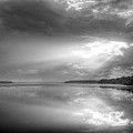 Let There Be Light Black And White by JC Findley
