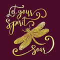Let Your Spirit Soar. Hand Drawn by Trigubova Irina