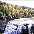 Letchworth State Park Middle Falls Panorama by Rose Santuci-Sofranko