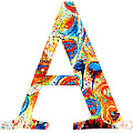 Letter A Alphabet Abstract Design by Patricia Awapara