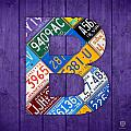 Letter B Alphabet Vintage License Plate Art by Design Turnpike