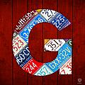 Letter G Alphabet Vintage License Plate Art by Design Turnpike