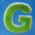 letter G underwater with bubbles  by Dmitriy Lokash