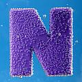 letter N underwater with bubbles  by Dmitriy Lokash