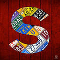 Letter S Alphabet Vintage License Plate Art by Design Turnpike