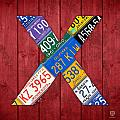Letter X Alphabet Vintage License Plate Art by Design Turnpike