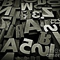 Letters And Numbers Gray Tones by Chalet Roome-Rigdon