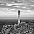 Levant To Pendeen View Black And White by Chris Thaxter