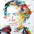 Lewis Carroll - Watercolor Portrait by Fabrizio Cassetta